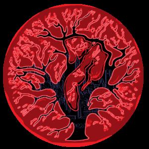 représente un arbre, avec un arrière plan flou de silhouette métropolitaine