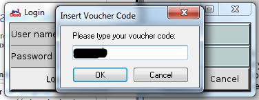 enter the right voucher code for windows