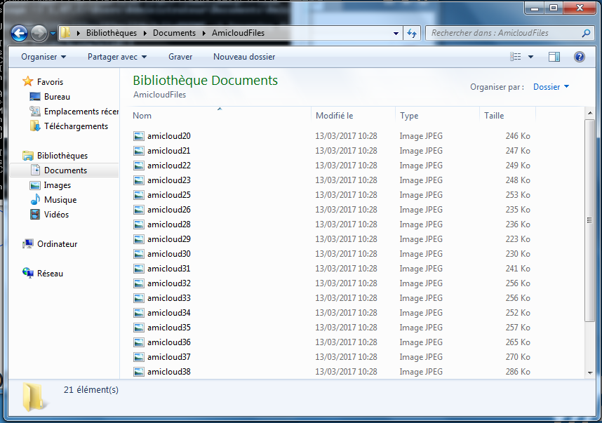 And, this is right, the files are there !