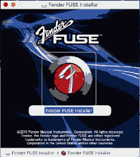 Fender Fuse on Mac OS X Sierra, High Sierra and Mojave
