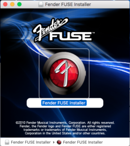 Fender Fuse on Mac OS X Sierra, High Sierra and Mojave troobleshooting