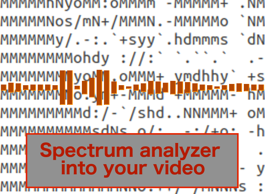 Put a spectrum analyzer into your video (without After effect) on